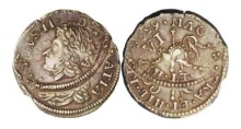 James II gunmoney sixpence irish ireland coin