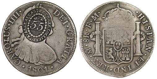 1801 Castlecomer token (obv + rev)