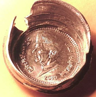 Capped die errors on the coins of any country are scarce