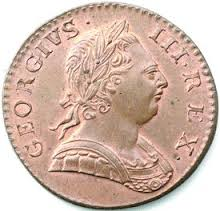 coin - latin inscription (George III)