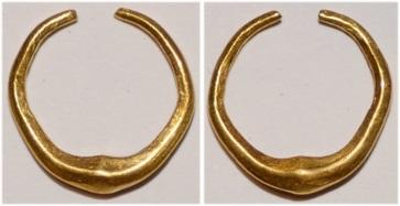 Gold ring money- 1,3 gram, ca 3rd-2nd cent BC, #irish, #coinage, #celtic, #ireland, #ringmoney