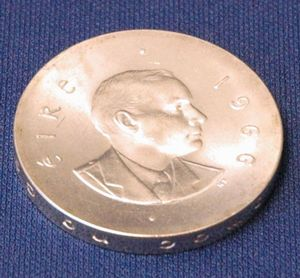 Rim Ding Great Britain 1909 Sterling Silver One Shilling Coin