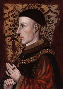 HENRY V, King of England, son of King Henry IV by Mary de Bohun, was born at Monmouth, in August 1387. On his father's exile in 1398, Richard II took the boy into his own charge, and treated him kindly