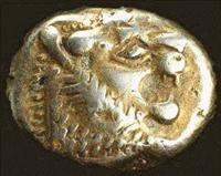 The 'electrum' staters of Lydia (now part of modern day Turkey) are considered to be the first coins ever produced in the world.