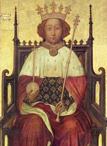 Richard II King of England - Coronation portrait