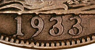 The coin shown is a fake, made by a rather clumsy attempt to alter the date by engraving or transplanting digits. I think the person who showed it to us bought it for about £100 on eBay, and was hoping it was genuine!
