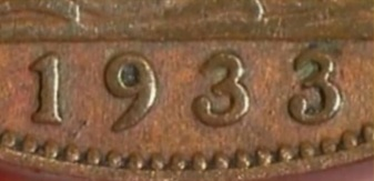 1933 Penny Antiques Roadshow Reverse - the last digit of the date of this coin had been altered.