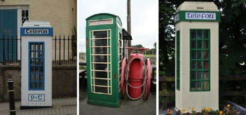 A selection of public phone boxes from Ireland