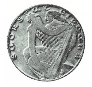 Ivan Mestrovic Pattern coin 1927 Irish Ireland competition entry