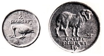 Morbiducci halfpenny and farthing plaster model coin ireland irish 1927