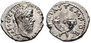 Pescennius Niger Denarius. Antioch mint. IMP CAES C PESC NIGER IVS AVG COS II, laureate head right / FELICITAS TEMPOR, crossed cornuacopiae.