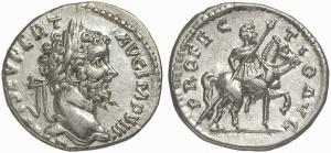 silver denarius septimius severus roman emperor coin