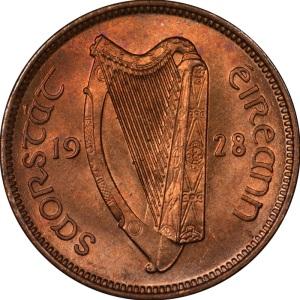 1928-37 Irish Farthing (obverse design)