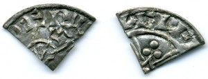 Medieval English 'cut' farthings (fourthings)