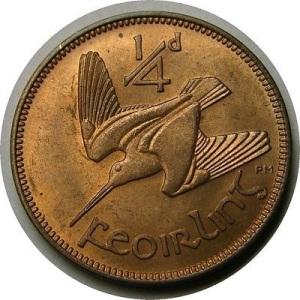 1928-66 Irish Farthing (reverse design)