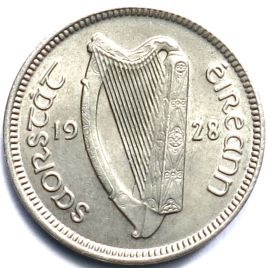 Ireland Irish sixpence coin