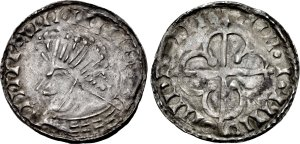 Hiberno-Norse. Circa 1110-1150. AR Penny (20mm, 0.83 g). Phase VII (semi-bracteate) coinage, Scrabo with Quatrefoil type