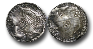 Hiberno-Norse Kings of Dublin, Phase V, Penny (c 1065-1095), stylized head ultimately derived from the Long Cross type of Aethelred II left