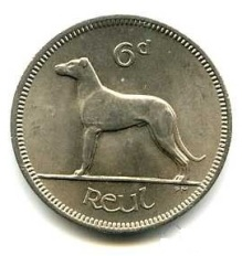 Ireland Irish coin sixpence reverse