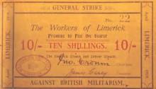1919 Limerick Soviet 10 shilling note