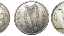 1961 Ireland Halfcrown - the differences between the normal and mule reverse