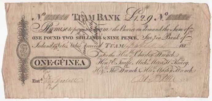 ffrench's Bank, Tuam - one guinea ireland irish