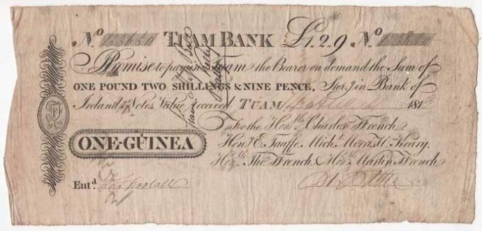 ffrench's Bank, Tuam - one guinea ireland irish