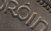 Irish halfcrown - Mule (1928-37 design) lettering