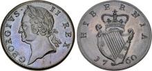 1760 George II (1727-1760), Copper Halfpenny, Type IV