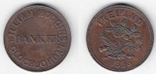 1858 Hodgins 1d Token, Cloghjordan