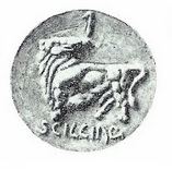 1927 Carl Milles, shilling (from a plaster model)