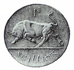 1927 Percy Metcalfe pattern, shilling (from a plaster model)