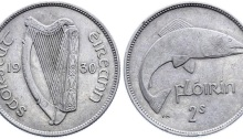 Ireland 1930 florin Irish coin pre-decimal numismatics