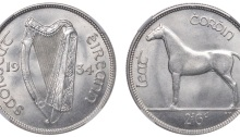 Ireland 1934 Halfcrown Irish coin numismatics