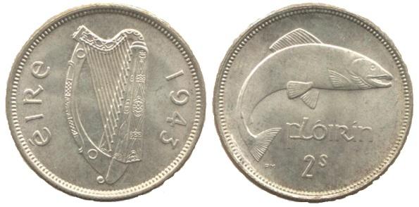 Ireland (Eire) 1943 Florin