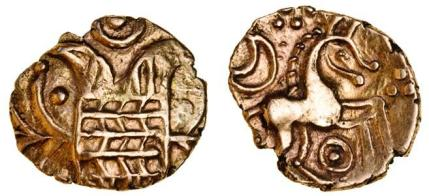 Iceni, Early Uninscribed Coinage, gold Quarter-Stater