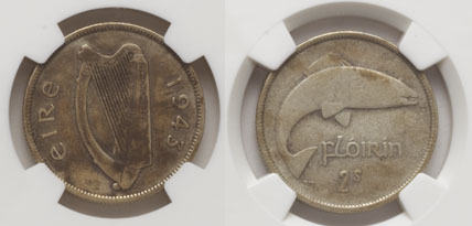 Whyte's, Dublin - Lot 570 - 1943 Irish florin