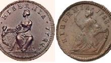 Wood's Irish coinage, Ireland, Dean Swift, Numismatic, coin, farthing, halfpenny