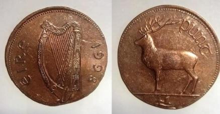 1998 Ireland £1 planchet error (2p bronze planchet)