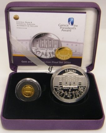 2010 An Gaisce - €10 and €20 'double' Proof Coin Set