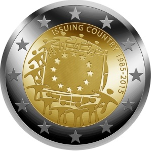 2015 $2 commemorative coin competition winner - the design was chosen by 30 percent of more than 100,000 voters in an online competition by the European Commission