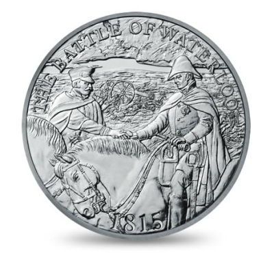 The new UK £5 coin commemorating the Battle of Waterloo - one of the most decisive battles in history; it brought over 20 years of conflict in Europe to an end, and began almost 100 years of peace.