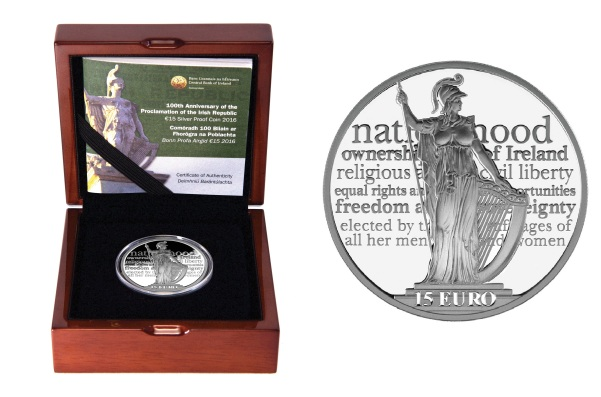 2016 Ireland €15 silver proof coin (boxed)