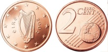 2002 Ireland – two cent coin