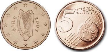 2003 Ireland 5c coin