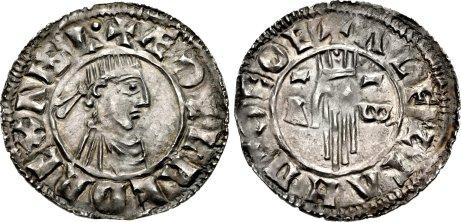 Aethelred II, Type 2 - First Hand type penny, Moneyer,  Ælfstan of York