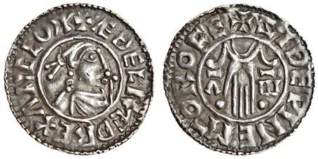 Aethelred II, Type 3 - second hand penny, Moneyer, Sidewine of Rochester