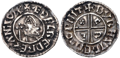 Aethelred II, Type 4 - Crux penny, Moneyer, Beohrtsige of Winchester