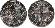 Aethelred II, Type 5 - Long Cross penny, Moneyer, Wulfmær of Castle Gotha