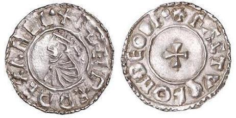 Aethelred II, Type 7 - Last small cross penny, Moneyer, Fastulf of Thetford